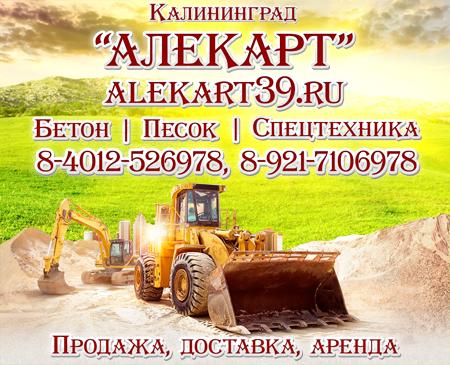 Экскаватор - промо информация на доставку сыпучих материалов в Калининграде